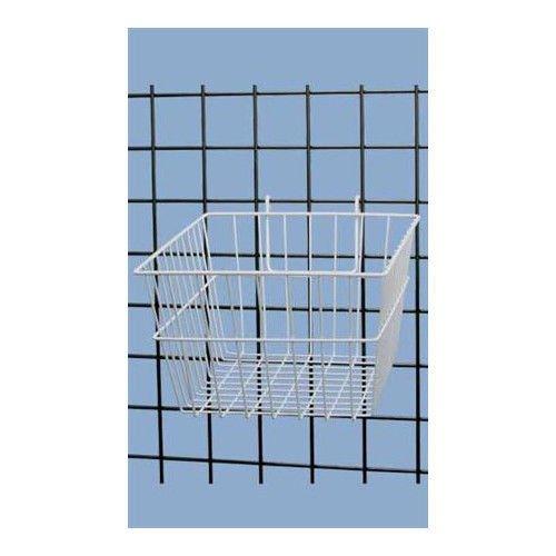 Lot of 3 White Powder Coat Finish Mini-Grid Basket 12''L x 12''W x 8''D by Mini-Grid Basket