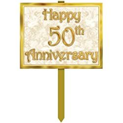 50th Anniversary Yard Sign Party Accessory (1 count)