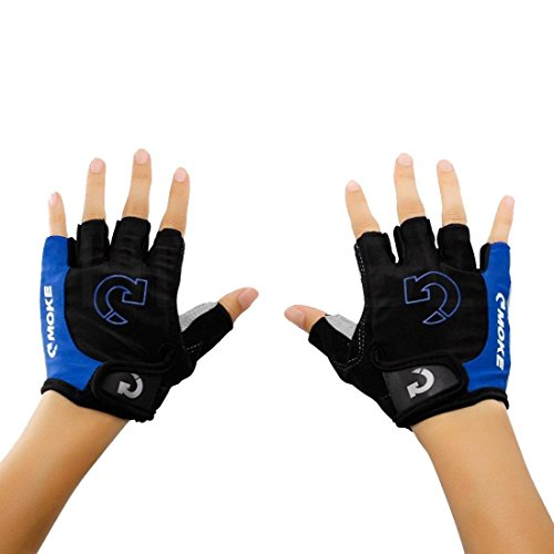 Quaanti Men's Cycling Gloves Bicycle Sports Half Finger Anti-Slip Gel Pad Motorcycle MTB Road Bike Gloves S-XL New Arrival (Blue, XL)