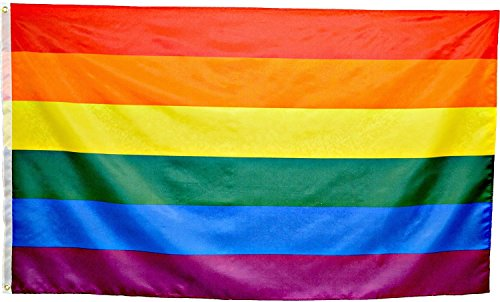OBI Rainbow Flags 6pc bulk lot- 3x5 feet Polyester with grom