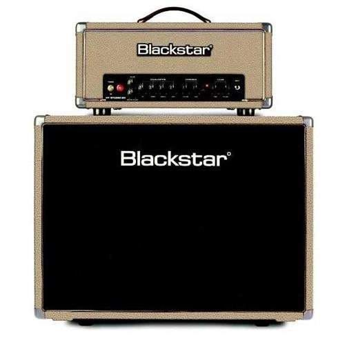 - Blackstar HT Studio 20H 20W 2-Channel All-Tube Guitar Amplifier Head with HTV-212 2x12 Extension Cabinet, Limited Edition, Bronco Tan