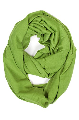 ScarvesMe Fashion Jersey Solid Color Soft Infinity Scarf (Lime) by ScarvesMe