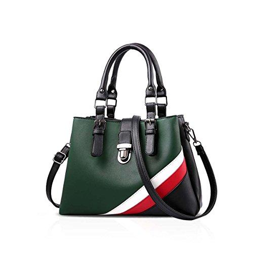 la Scuro per tracolla alla amp; Nero donna Verde borsa Borsa DORIS moda NICOLE multiscomparto per a wRg41Y