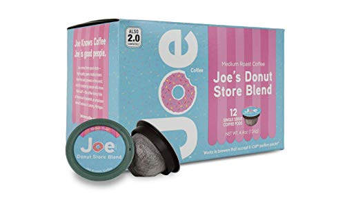Joes Knows Coffee Pods (Donut Store Blend, Medium Roast Pods, 12 Count)]()