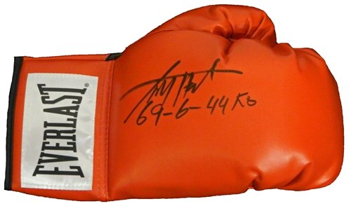 Larry Holmes Autographed/Hand Signed Everlast Red Boxing Glove w/69-6-44K