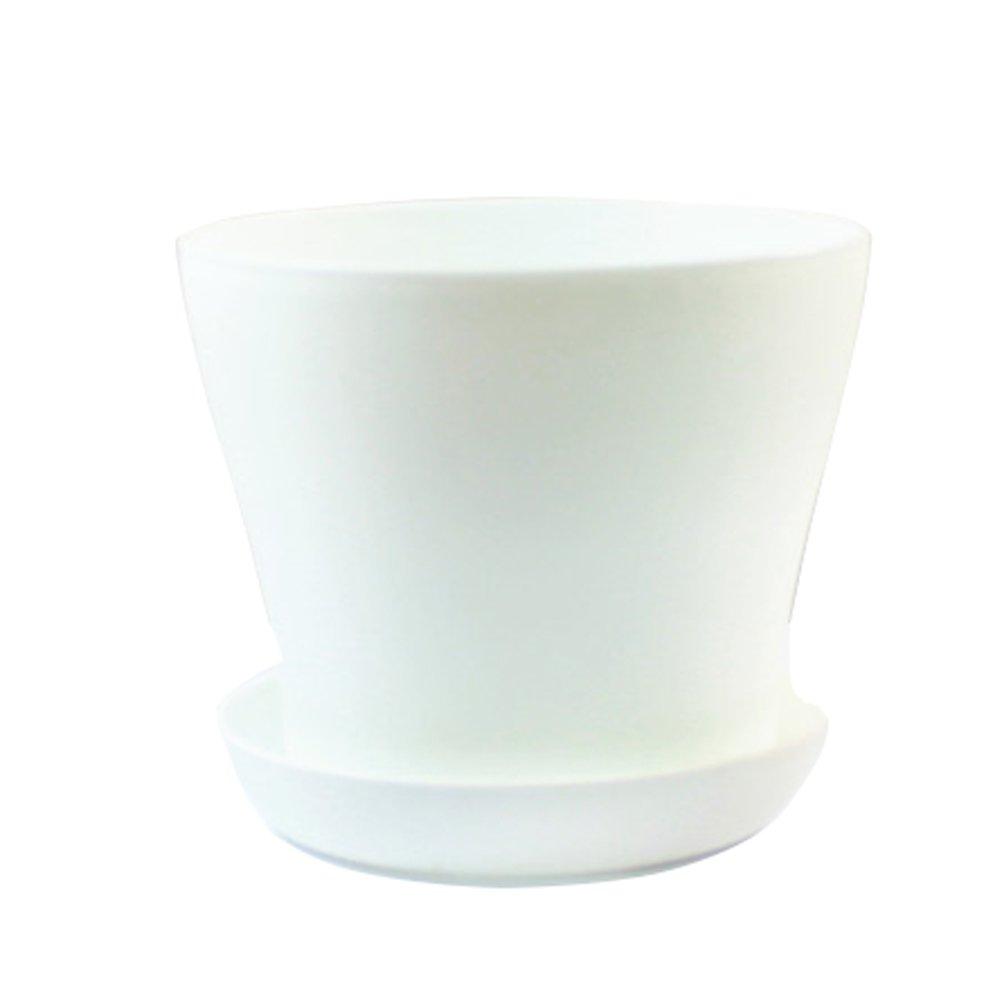 HOBULL Plastic Flowerpot Plant Pot Flower Pot/Container/Planter Seedlings Nursery Pot with Pallet Garden Plant Pot Home Decoration