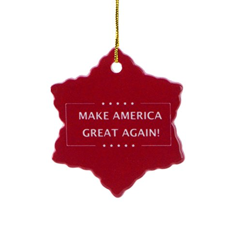 President Donald Trump Make America Great Again Xmas Tree Ornament Gift Topper (Again Ornament)