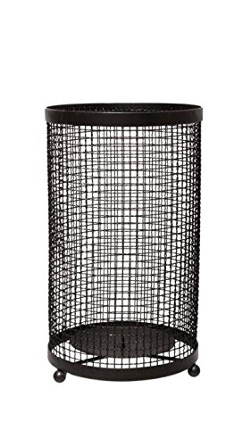 Hosley's Black Pillar Candle Holder/Sleeve 9.75 High, Metal. Ideal for Wedding, Special Occasions, for Home/Office, Spa, Aromatherapy, Reiki, Candle Garden, Vase/Floral O6 HG Global FBA-BS53206WC-1-EA