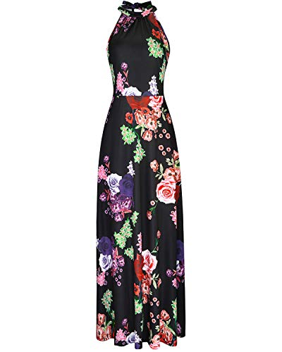 (STYLEWORD Women's Off Shoulder Elegant Maxi Long Dress(Floral06,S))