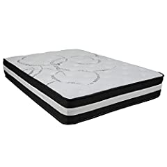 Get a good night's rest atop this body conforming, medium firm mattress. The interior make-up has pocket spring coils, high density foam, convoluted foam and fire-retardant foam. Pocket spring coils are individually wrapped springs that act i...