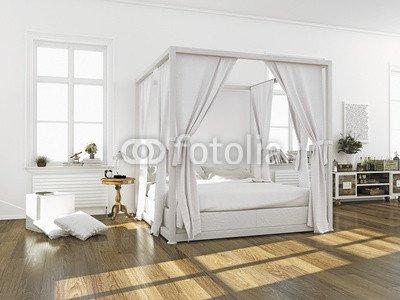 Camera da letto con baldacchino letto (75277172), Legno, 3 mm, 30 x ...