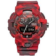 SMAEL Camouflage Watch SMAEL Watch Men Sports Watch LED Quartz Clock Men Sport Watch 8001 Mens Army Watch Waterproof