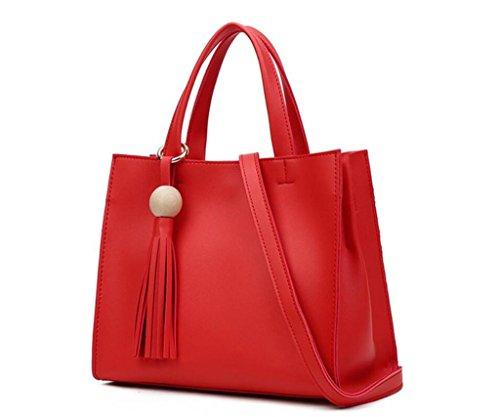 spalla borse dell'unità delle modo della Borsa di di a elaborazione NVBAO Red cuoio della donne delle borsa di tracolla diagonale xwAavnYYgq