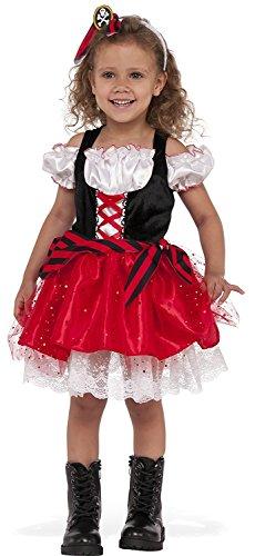 [Rubies Costume Child's Sweet Pirate Costume, Medium, Multicolor] (Cute Pirate Costumes For Girls)