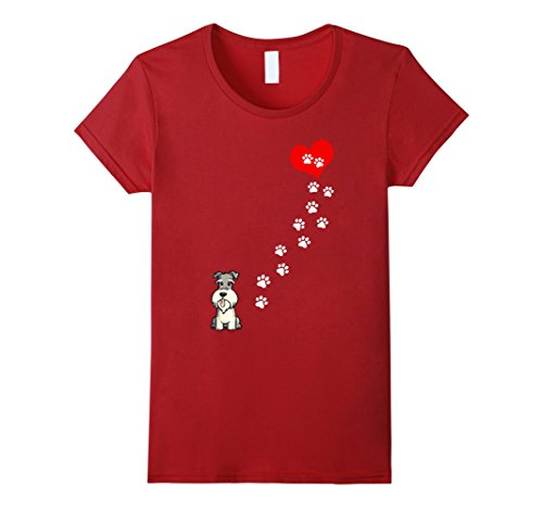 Women's The Path to my Heart is paved with Schnauzer - Ts...