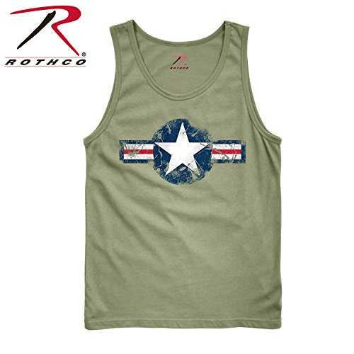 (Rothco Tank Top, Vintage Od Air Corps, Large)