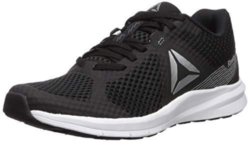 Reebok Women's Endless Road Running Shoe, Black/True Grey/White/Pure Silver, 10.5 M US