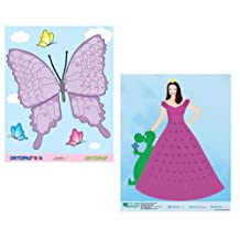 Girls Eye Patching Reward Posters: 1 Princess Poster, 1 Butterfly Poster