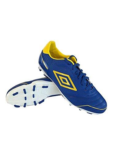 Umbro - Botas de fútbol de goma para hombre azul Royal/Yellow/White