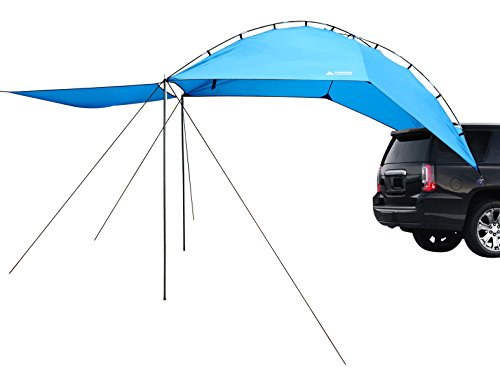 Leader Accessories Easy Set Up Camping SUV Tent/Awning/Canopy/Sun Shelter Tailgate Tent Beach Tent Suitable For SUV Mini Van Campers RVs Waterproof With Adjustable Sunwall (78.7'x59')