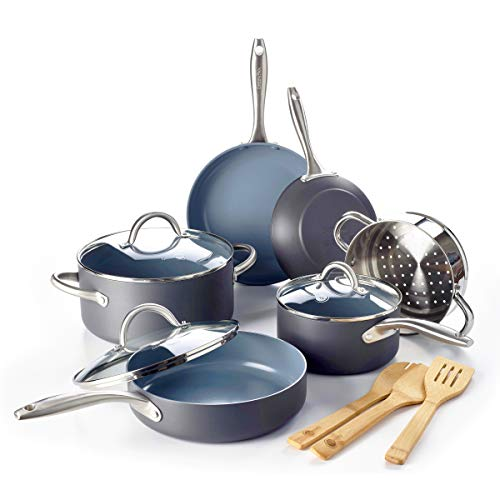 (GreenPan Lima Ceramic Non-Stick Cookware Set, 12pc)