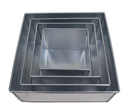 - Euro Tins multi layer cake pans wedding cake pan Square 4 tier 5