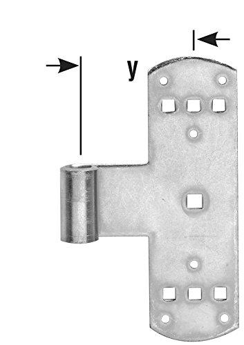 L/änge 160 mm 2 St/ück Pollmann Baubeschl/äge 1471600 T/ürband Rolle /Ø 13 mm hell verzinkt