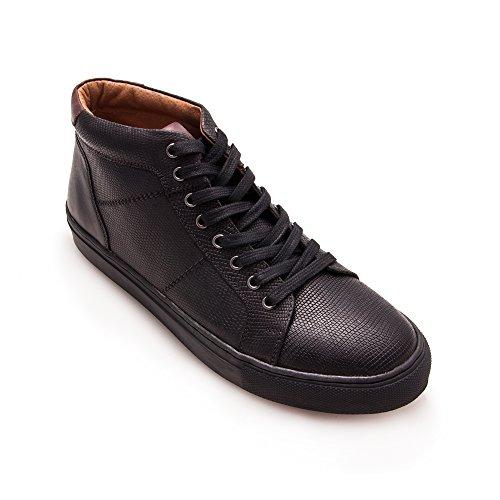 Zerimar Noir Élégantes en pour Cuir Chaussures Homme q6pqnrCW