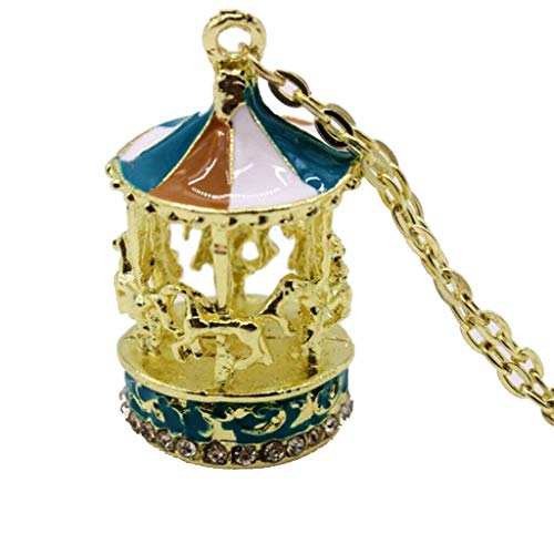 Merry Go Around Pendant Enamel Necklace Halloween Birthday Kids Jewelry Necklace Jewelry Crafting Key Chain Bracelet Pendants Accessories Best
