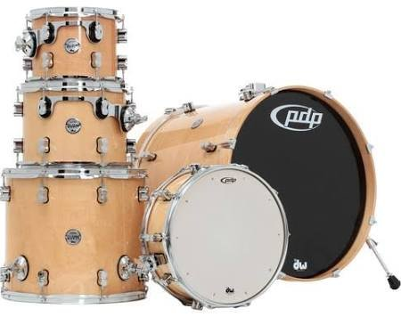 PDP By DW 5-Piece Concept Maple Shell Pack with Chrome Hardware Natural Lacquer