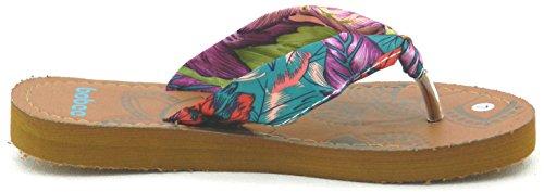 Womens Multi Kleur Jelly Flip Flop Thong Sandaal Strand Slipper Equa Schoen Koningsblauw