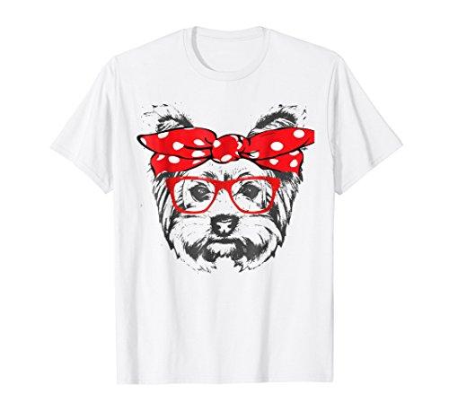 Bandana & Glass Yorkshire Terrier Mom Gift T Shirt