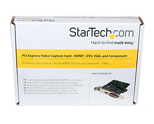 StarTech.com PCI Express HD Video Capture Card 1080p - HDMI/DVI/VGA/Component TV Tuners/Video Capture (PEXHDCAP)