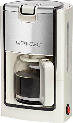 Clatronic Machine à café KA 3558 cream-inox