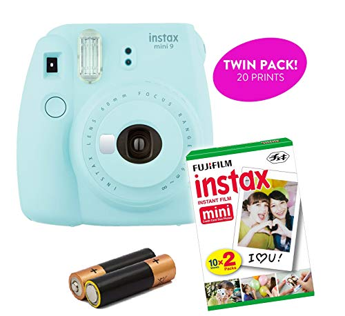 Fujifilm – Instant Mini 9 & Instax Mini 7S Instant Camera Product Bundles | Film Pack Options | Renewed (Mini 9 Camera + 1 Film Pack, Ice Blue)