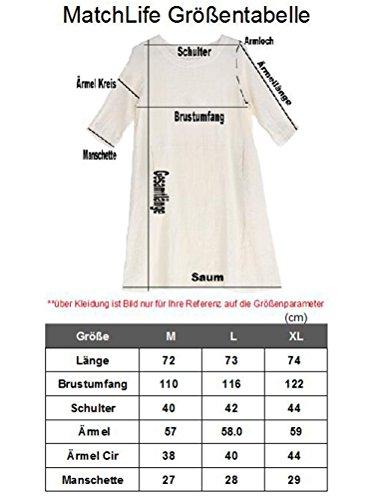Tunique Classe en Femme T Longues MatchLife Manches Shirt Lin V Top Model Chinois Col Rouge 5wTxqC0C