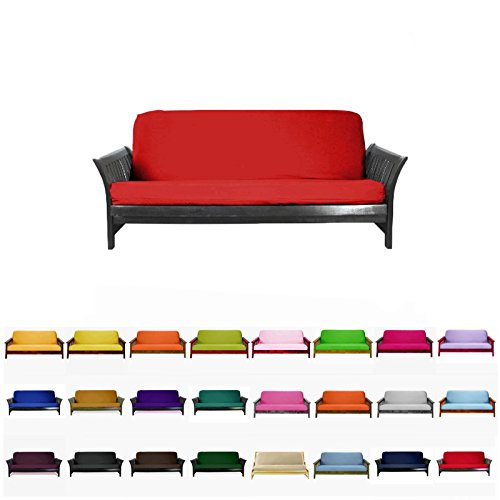 Magshion@Futon Cover Slipcover (Red, Full (54x75 in.)) (Cover Bright Futon)