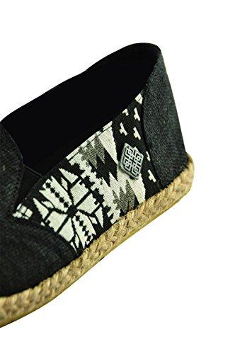 ecologiche Canapa Canapa estive con 40 Motivi virblatt 43 41 di 42 Espadrillas Scarpe Calzature Nero passend Etnici Misura 44 Naturali Scarpe Uomo e comode qw1pP