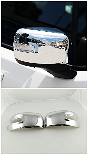 FMtoppeak ABS Chrome Side Rearview Mirror Cover Trims Door Mirror Cover Car Accessories For Jeep Renegade 2014 UP
