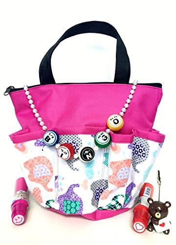 United Novelty 10 Pocket Baby Elephants Bingo Bag Gift Set with Daubers, Necklace, and Ticket Holder