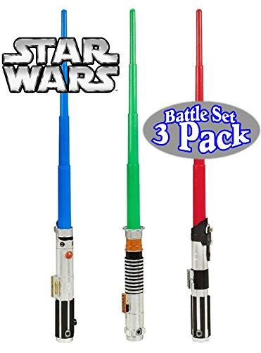 Star Wars Anakin Skywalker, Luke Skywalker & Darth Vader BladeBuilder Extendable Lightsabers Good vs Evil Battle Pack Bundle - 3 Pack