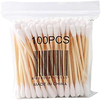 Multicolor Coton Tiges 10 Paquets Bourgeons de Coton en Bambou pour Outil de Nettoyage pour Soins de Nettoyage des Oreilles Soin des Blessures Outil Cosm/étique Biod/égradables Double T/ête