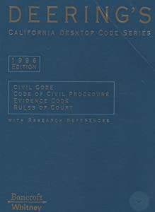 Paperback Deering's California Desktop Code Series: 1996 Civil, Civil Procedure, Evidence & Rules of Court -- with Research References Book