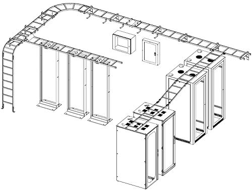 L-SS6BLK - Enclosure Accessory, Ladder Rack Straight Section, Cable Runway Systems (L-SS6BLK)