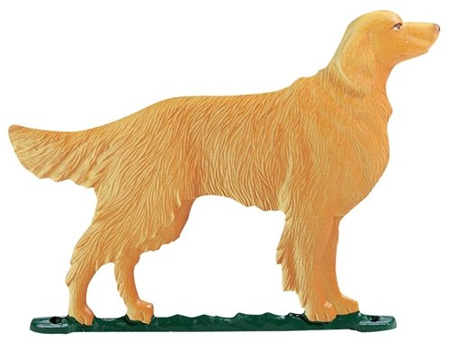 Whitehall Products Golden Retriever Weathervane, 30-Inch, Rooftop -