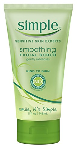 Simple Smoothing Facial Scrub 5 Ounce Tube 148ml 6 Pack