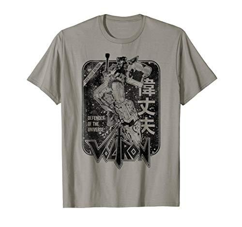 Voltron Retro Defender Black And White Fight Sword T-Shirt