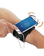 Amatke Running Armband, 360 ° Rotatable Arm Band Mobile Phone Holder, Adjustable Armband, Easy to Disassemble, for Running and Cycling, Support 4-6.5 '' Mobile Phone Use (Black)