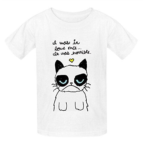 Grumpy Cat Love 0ox Unisex Crew Neck Print Shirts White (Pin Up Dolls Tattoos)
