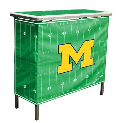 UPC 897149041601, NCAA Michigan Wolverines Aluminum High Top Folding Tailgate Table With Carrying Case